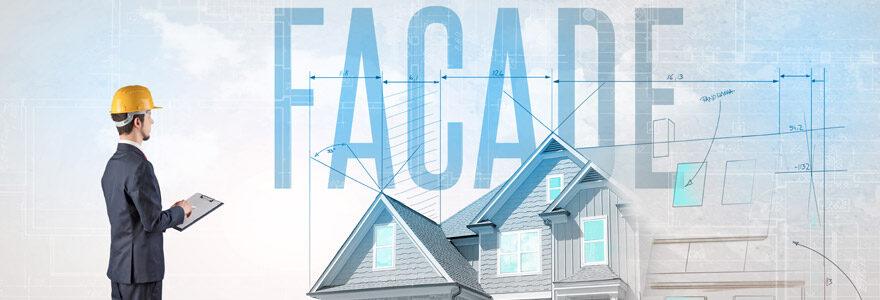 façades d'un bâtiment